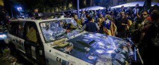 """Catalogna, notte di proteste a Barcellona. Junqueras: """"Referendum sarà mozione contro la censura di Rajoy"""""""
