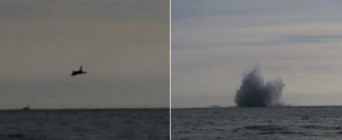 Terracina, caccia militare cade in mare durante un'esibizione: morto il pilota