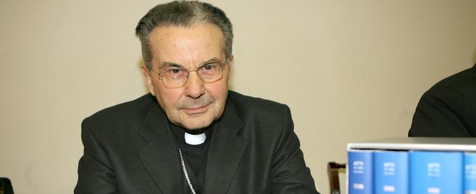 Bologna, morto il cardinale Caffarra: nemico delle unioni civili si oppose alle aperture di Papa Francesco ai divorziati