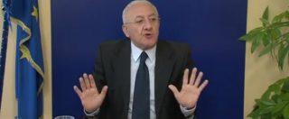 Campania, per essere audito dalle commissioni che indagano su De Luca serve il permesso dello stesso De Luca