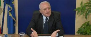 """Legge antimafia, De Luca contro il Pd: """"Propaganda politica. Una truffa ai danni dei cittadini"""""""