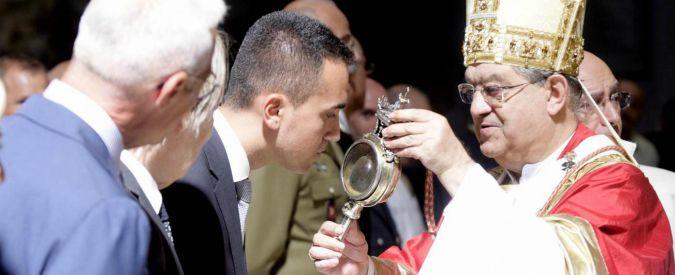Luigi Di Maio il chierichetto e il sangue sciolto di San Gennaro