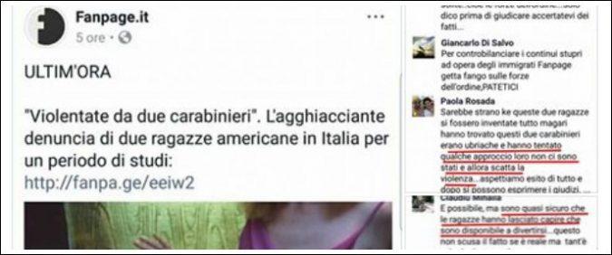 Stupro, se a compierlo sono carabinieri è meno grave. (E le donne se la sono cercata)