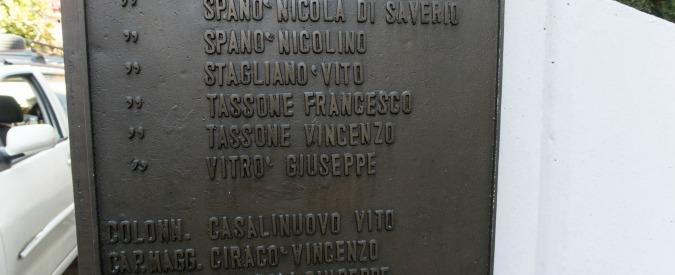 Calabria, sul monumento ai caduti c'è anche il nome del console fascista