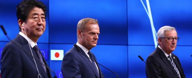 """Trattato Ue-Giappone sul commercio, """"firma entro l'anno"""". Restano incognite su standard ambientali e tutela del lavoro"""