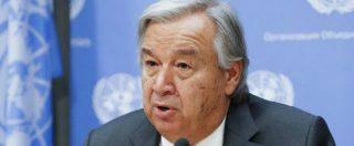 """Onu, Guterres: """"Nostro mondo nei guai, minaccia nucleare mai così alta dai tempi della Guerra Fredda"""""""