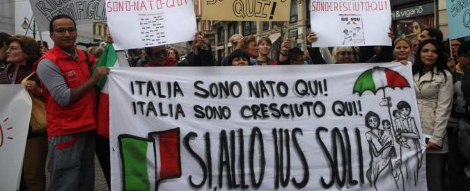 Risultati immagini per ius soli italia