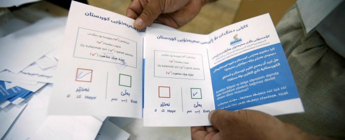 """Referendum Kurdistan, """"il 93% a favore dell'indipendenza"""". Baghdad: """"Da venerdì blocco degli aeroporti"""""""