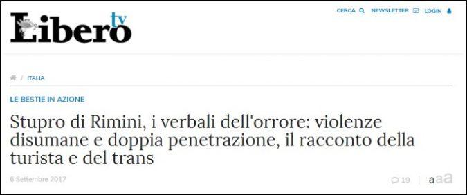 Stupri Rimini, cosa c'è di scorretto nell'articolo di Libero