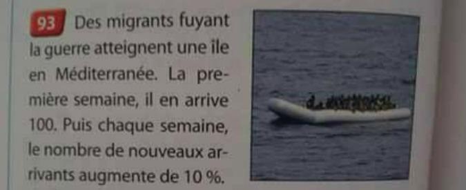 Migranti, in Francia un libro scolastico con esercizio di matematica sugli sbarchi. Casa editrice lo ritira dopo le polemiche