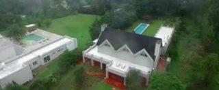 In Uruguay la lussuosa villa con piscina del boss Rocco Morabito vista dal drone