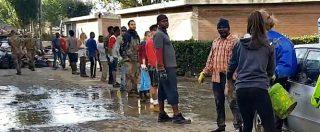 Livorno, la lunga fila di volontari di ogni età e provenienza al lavoro per liberare la città dal fango