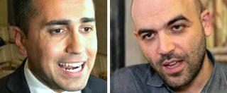 """M5s, la provocazione di Saviano: """"Mi candido a premier per il Movimento, così lo tolgo da un patetico impaccio"""""""