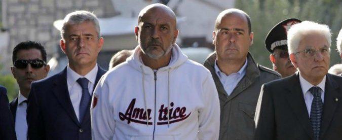 Sergio Pirozzi, il sindaco con la felpa che accusa e non deve mai difendersi