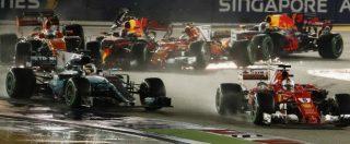 F1, gp di Singapore: suicidio Ferrari in partenza. Fuori Vettel e Raikkonen. Hamilton ringrazia – RISULTATI E CLASSIFICA