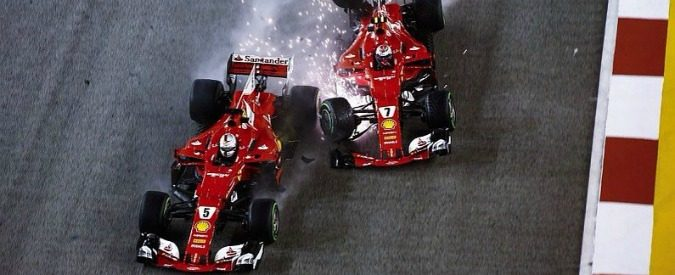 F1, gp Singapore: crash Ferrari, di chi è la colpa?