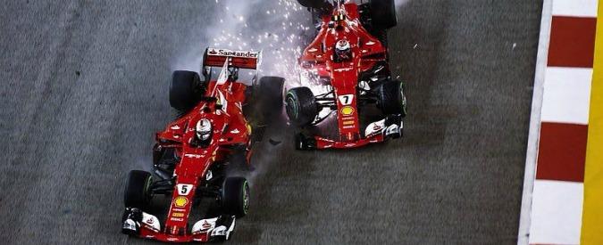 F1, gp Singapore: crash Ferrari, di chi è la colpa?