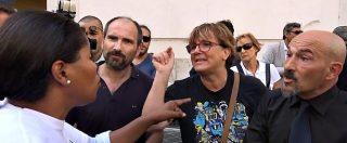 """Ius soli, tensione al sit-in per la cittadinanza. Movimenti di destra vs manifestanti: """"Italia agli italiani"""". La replica: """"Che ignoranza"""""""