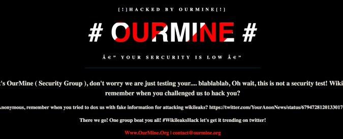 Wikileaks hackerato da OurMine? Uno scherzetto su cui riflettere