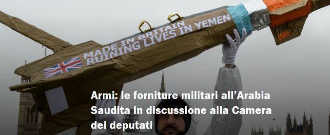 Bombe italiane all'Arabia Saudita, il parlamento respinge le mozioni per fermarle