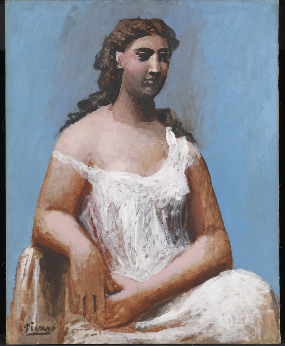 Seated Woman in a Chemise