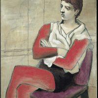 Pablo Picasso  Saltimbanque assis, les bras croisés [Saltimbanco seduto con braccia conserte], 1923 Olio su tela,130,5 x 97 cm Tokyo, Bridgestone Museum of Art, Ishibashi Foundation © Succession Picasso, by SIAE 2017