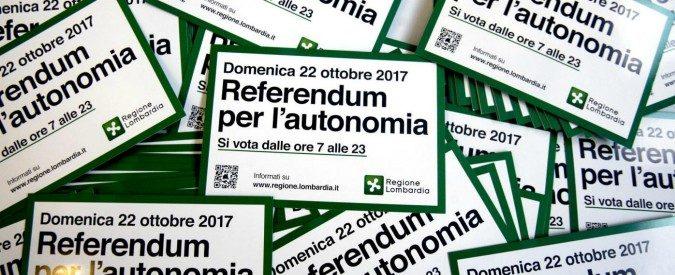 Referendum per l'autonomia di Lombardia e Veneto, le scomode verità da non dire