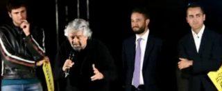 """Elezioni Sicilia, Grillo irrompe a Catania a sostegno di Cancelleri: """"Chi non sogna è morto"""""""