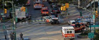 """New York, furgone su pista ciclabile: """"Otto morti e 12 feriti. Ha urlato Allah è grande"""". Fermato dalla polizia"""