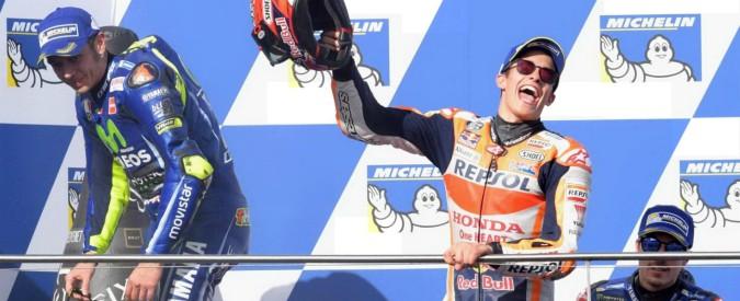 MotoGp Australia, Marquez vince e ipoteca il mondiale. Bene Rossi (2°), malissimo Dovizioso: 13° e addio titolo
