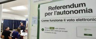 """Referendum per l'autonomia, il Veneto supera il quorum. In Lombardia """"vicini al 40%"""". Polemica sul blackout dei dati"""