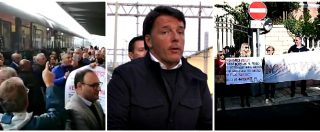 Destinazione Italia, stazione che vai protesta che trovi: il tour di Renzi in treno tra cori, fischi e contestazioni