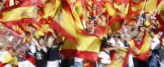 """Referendum Catalogna, a Madrid in migliaia in piazza in difesa dell'unità nazionale. Il premier spagnolo Rajoy: """"Impediremo qualsiasi dichiarazione di indipendenza"""""""