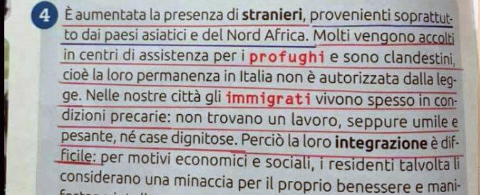 """Migranti """"profughi e clandestini"""": il sussidiario di quinta elementare fa scoppiare la polemica sul razzismo"""
