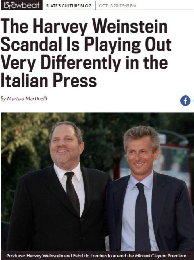 """Asia Argento, """"Slate"""" contro la stampa italiana che """"incolpa le vittime"""""""