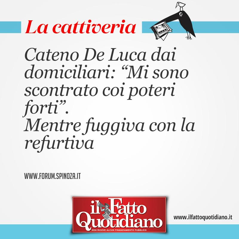 """Cateno De Luca: """"Mi sono scontrato coi poteri forti"""". Mentre fuggiva con la refurtiva"""
