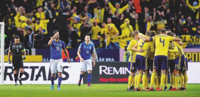 Crac Italia, sconfitti in Svezia, la Russia si allontana