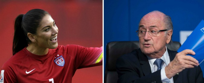 """Scandalo molestie, Sepp Blatter accusato dall'icona Hope Solo: """"Mi importunò prima della cerimonia del Pallone d'oro"""""""