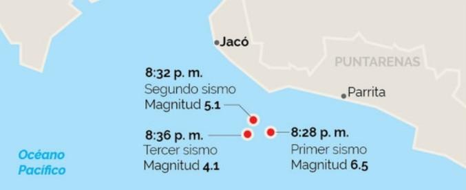 Costa Rica, terremoto di magnitudo 6.5: almeno 3 morti in una località turistica