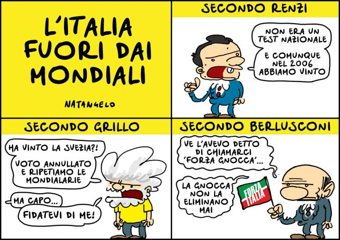 l'Italia fuori dai mondiali