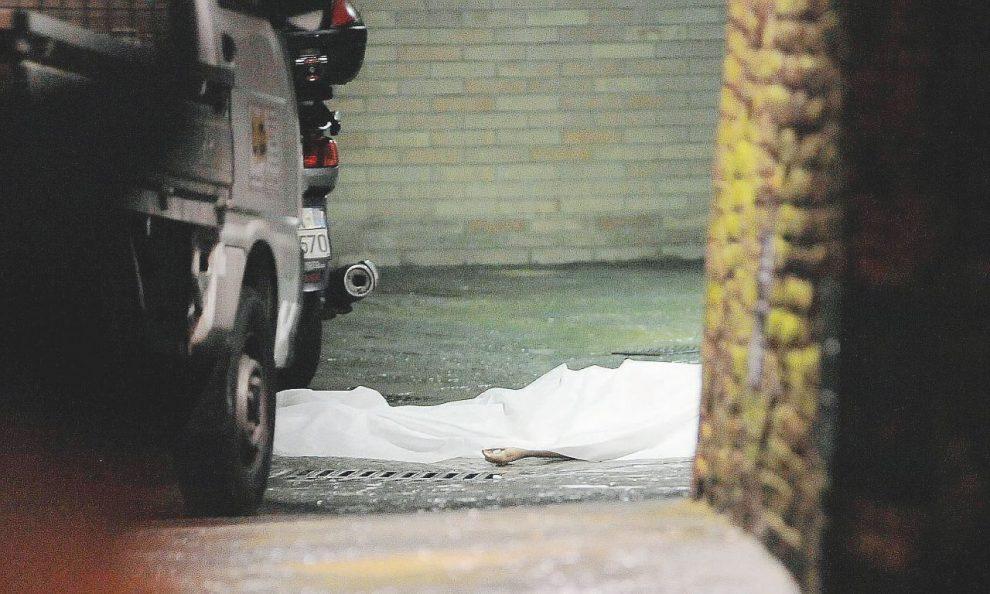 Il corpo di Rossi la sera del 6 marzo 2013