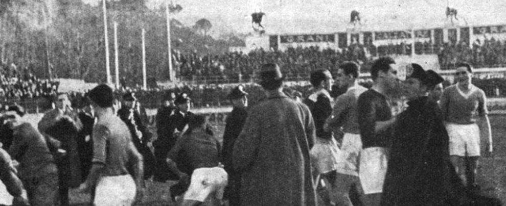 Anno XV dell'era fascista: e il derby finiva già in rissa