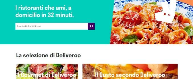 Deliveroo, dai fondi finanziamenti per 482 milioni di dollari. L'azienda dei pasti a domicilio vale oltre 2 miliardi