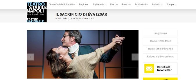 Eva, Renzi ed io al Teatro Mercadante. Così ricordiamo un femminicidio ante litteram