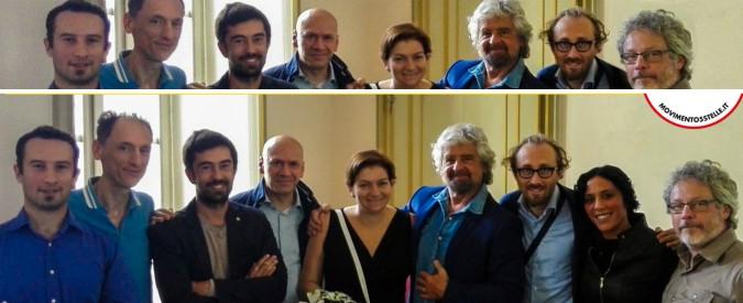 """M5s Piemonte, consigliera cancella dalla foto con Grillo la collega 'dissidente': """"Provo amarezza per il suo abbandono"""""""