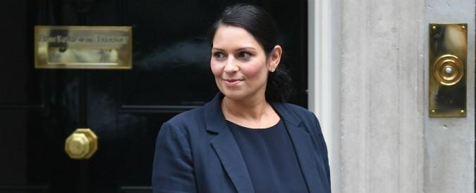 """Londra, lascia la ministra Patel: """"Incontri non autorizzati con politici israeliani"""""""