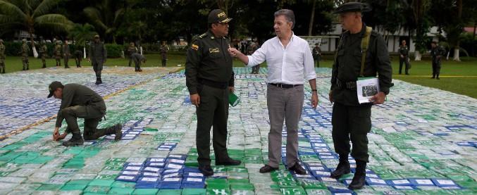 """Colombia, """"il più grande sequestro di cocaina della storia"""": 12 tonnellate di droga"""