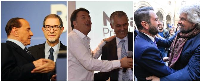 Sicilia, la partita dei leader è nazionale: la distanza di Renzi, il rodaggio di Di Maio, i cannoli di Salvini guastati da Berlusconi