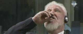 Ex Jugoslavia, Praljak suicida in diretta tv col cianuro: ipotesi su come sia riuscito a portare il veleno in aula