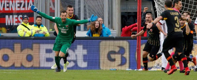 Benevento-Milan 2-2: il colpo della Strega è del portiere sannita al '95. L'esordiente Gattuso concede primo punto ai campani